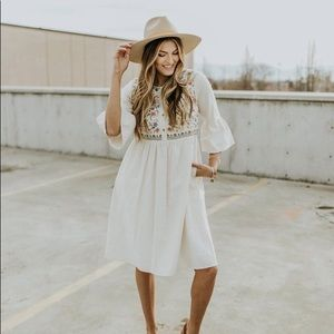 Roolee Bailee Embroidered Dress